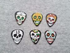 4 Grave Picker Guitar Picks assorted colors Glow in Dark