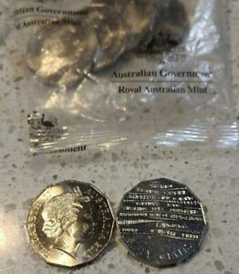 2019 UNC 50c Fifty Cent Indigenous Languages coin from RAM Bag