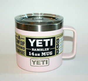 Brand New! YETI 14 oz Rambler Mug ICE PINK Camp Cup Sold Out Retired Color