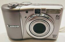 Canon PowerShot A1100 IS Digital Camera 12.1MP 4X Optical Zoom TESTED