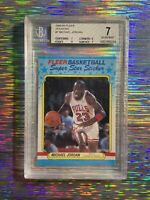 Michael Jordan 1988 Fleer Sticker #7 BGS 7 ✨💎📈 Rare💎 Sweet Card❗️ GOAT🐐