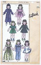 "456 Vintage Slender Doll Pattern - Size 16"" - Year 1934"