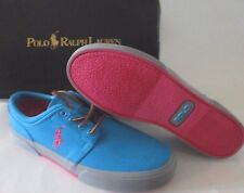 MENS POLO RALPH LAUREN FAXON LOW TURQUOISE/PINK/GRAY CASUAL SHOES SIZE 8