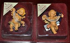 2 1985 Roman Fontanini Ornaments Cherub Angels