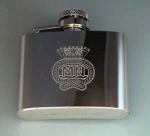 Merchant Navy 6oz Stainless steel hip flask