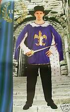 MUSKETEER COSTUME MENS MEDIEVAL FANCY DRESS MANS OUTFIT
