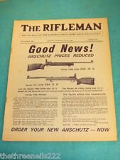 THE RIFLEMAN - ANSCHUTZ PRICES REDUCED AD - JUNE 1968 #468