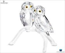 Swarovski Crystal Owls Retired 2014 Mib #1003312