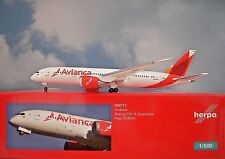 Herpa Wings 1:500 Boeing 787-8 Avianca n780av. 528771 modellairport 500