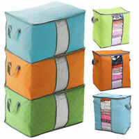 Foldable Storage Bag Clothes Pouches Quilt Blanket Sweater Box Closet Organ X7Y2
