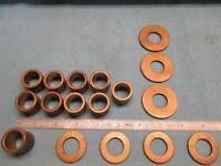 Pack of 2 Oilite Bunting Flange Bearings Bushing 1//4 x 3//8 x 3//8 1//2 x 1//16
