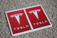 Tesla Motors Racing Rally Motorsport Race Car Decal Stickers Badge Logo Red 50mm