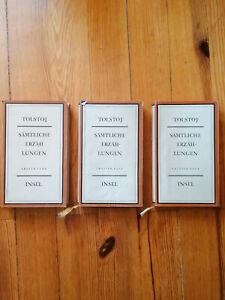Sämtliche Erzählungen Tolstoj 3 Bände Verlag Insel 1961 Gisela Drohla