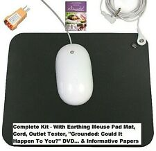 EARTHING GROUNDING MOUSE PAD MAT COMPUTER BEST QUALITY + EXTRAS REDUCE STRESS