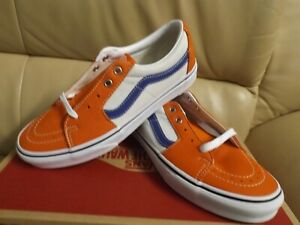 Vans Sk8-Low Leather Women's Size 9.5 Skate Shoes Orange/White/Blue VN0A4UUK2S2