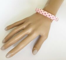 Gorgeous Pink Diamante Bangle Bracelet with Crystals
