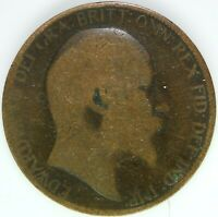 1902 HALF PENNY OF EDWARD VII. / COLLECTIBLE COIN    #WT15407