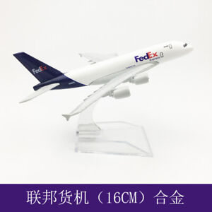 Aircraft Metal Diecast Model 16cm Federal A380 Solid Passenger Airplane Plane