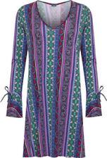 Plus Size Paisley Casual Dresses for Women