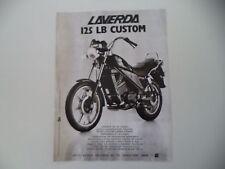 advertising Pubblicità 1984 MOTO LAVERDA 125 LB CUSTOM