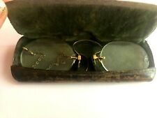 Vintage Antique Gold Filled Eyeglasses Fits Spectacles Nose Piece with Chain
