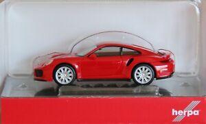 Herpa 028615-002 H0 Porsche 911 Turbo, Rojo # Nuevo Emb. Orig. #