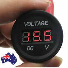 12V-24V Car Motorcycle LED DC Digital Display Voltmeter Waterproof Meter #WR