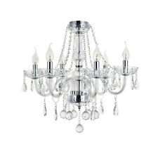 Marie Therese 6-arm Clear Crystal&Glass Ceiling Light Chandeliers Light