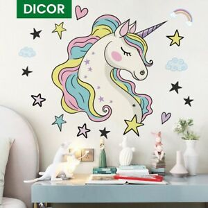 Large Colorful Unicorn Wall Sticker Living Room Bedroom Mural Vinyl Wall Decals