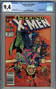 Uncanny X-Men #240 CGC 9.4 NM Newsstand Variant Mr. Sinister Appearance WHITE