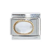 Encanto colgante color oro italiano G-se adapta a 9mm clásico italiano pulseras
