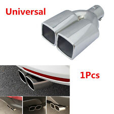 "1x Universal Chrome 63mm 2.5"" Inlet Car Tail Rear Pipe Tip Muffler Exhaust Cover"