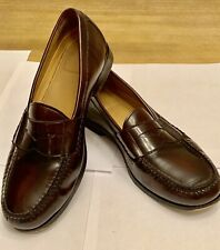 Mens Cole Haan Hamilton Grand OS Penny Loafer Shoes - Burgundy - Size 10 W