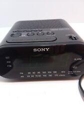 Sony Dream Machine Black Model #Icf-C218 Am/Fm Alarm Clock Radio