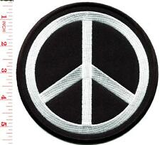 Peace sign hippie retro boho love applique iron-on patch BIG 5.25 inches S-580