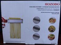 Kitchen 3-Piece Pasta Roller and Cutter Set for KitchenAid Stand