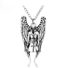 Supernatural Castiel Chain Necklace Sam DEAN Jensen Ackles Angel Wings Pendant