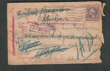 WWI cover to Edward Lauterborn Balloon Squadron AEF France/returned to US Casual