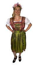 Trachtenkleid Sari Dirndl - Midi Set Oktoberfest, 3-teilig: Kleid Bluse Schürze