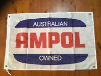 Ampol advertising petrol oil Man cave flag sign mancave ideas banner poster
