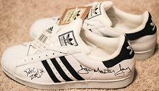 RUN DMC Signed Adidas Superstar II shoes Jam Master Jay, Rev Run, DMC SUPER RARE
