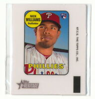 NICK WILLIAMS RC 2018 TOPPS HERITAGE HIGH NUMBER 1969 MINI DECAL #69TD-NW