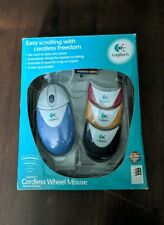 Vtg 1999 Logitech Cordless Wheel Computer Mouse Special Edition New Open Box