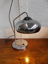 LAMPE DESIGN ANNÉES 70 EN METAL CHOMÉ/CHAPEAU PIVOTANT/VINTAGE LAMP 70'S/N°B117