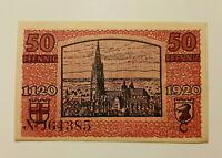 FREIBURG NOTGELD 50 PFENNIG 1920 NOTGELDSCHEIN (11005)