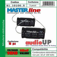 MICRO FARAD CONDENSATORE RADIALE ELETTROLITICO 10 MF 50 VOLT  POL
