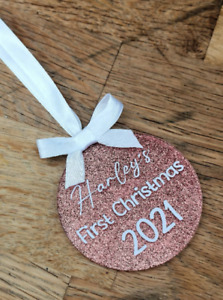 Personalised Christmas Tree Bauble Decoration Ornament Xmas Stocking Gift filler