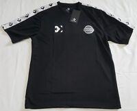 Converse Colorblock Mens fashion T-shirts - Black white style size S,L,XL
