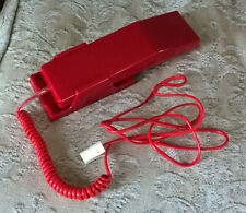 RED 1980S WALL MOUNTED TELEPHONE TESTED WORKING