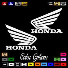 "(2x) HONDA Wings 4.5"" x 3.5"" Emblem Vinyl Sticker Honda Decal Motorcycle 021"